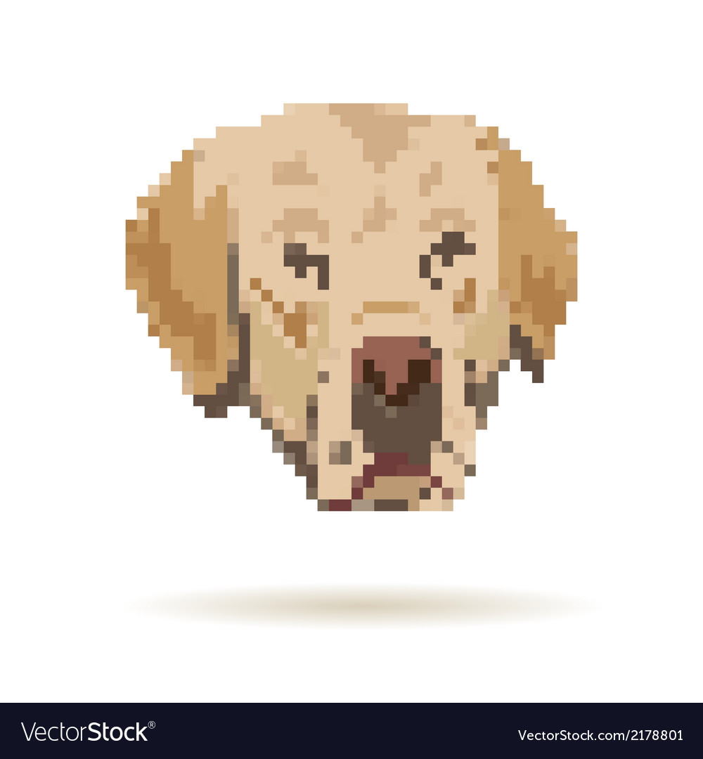 Labrador abstract isolated vector | Price: 1 Credit (USD $1)
