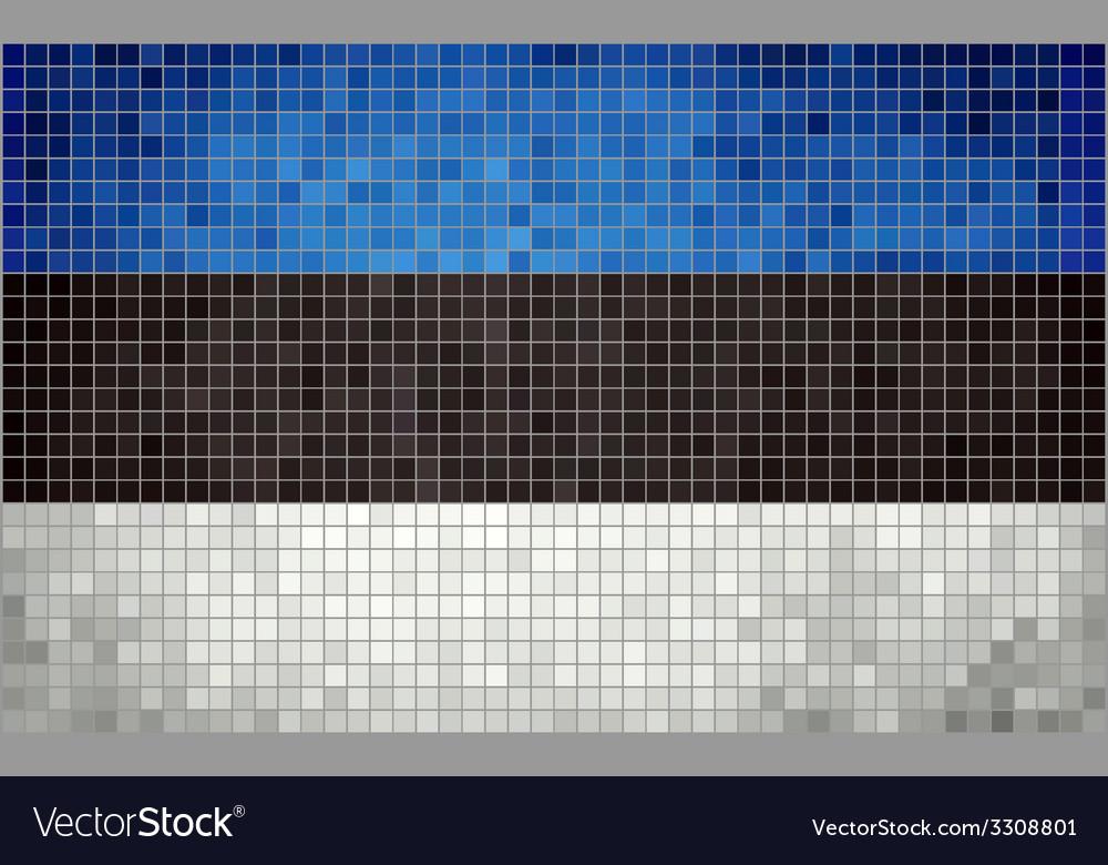 Mosaic flag of estonia vector | Price: 1 Credit (USD $1)