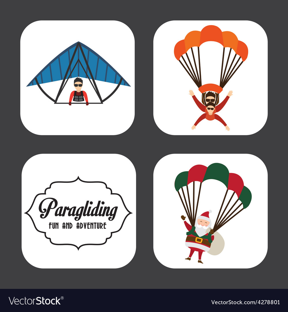 Paragliding sport vector | Price: 1 Credit (USD $1)
