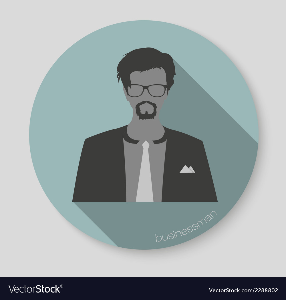 Businessman web icon vector | Price: 1 Credit (USD $1)