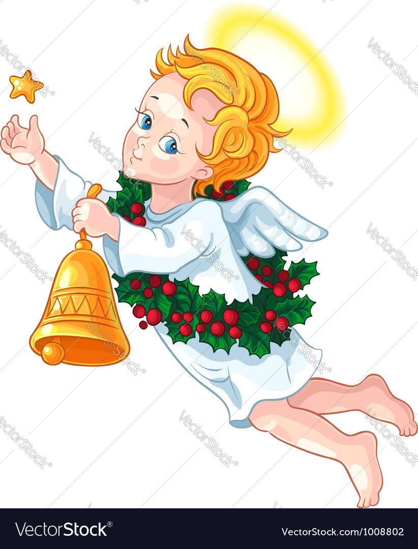 Christmas angel vector | Price: 3 Credit (USD $3)