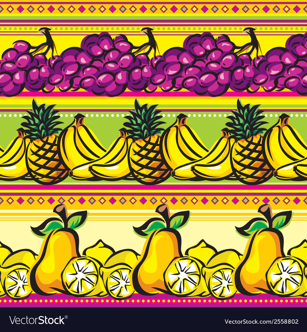 Fruit striped seamless vector | Price: 1 Credit (USD $1)