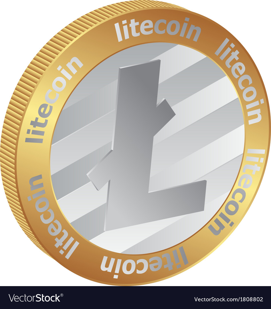 Litecoin vector | Price: 1 Credit (USD $1)