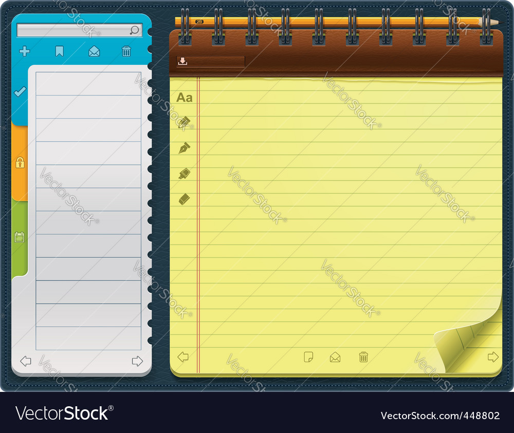notepad template vector | Price: 3 Credit (USD $3)