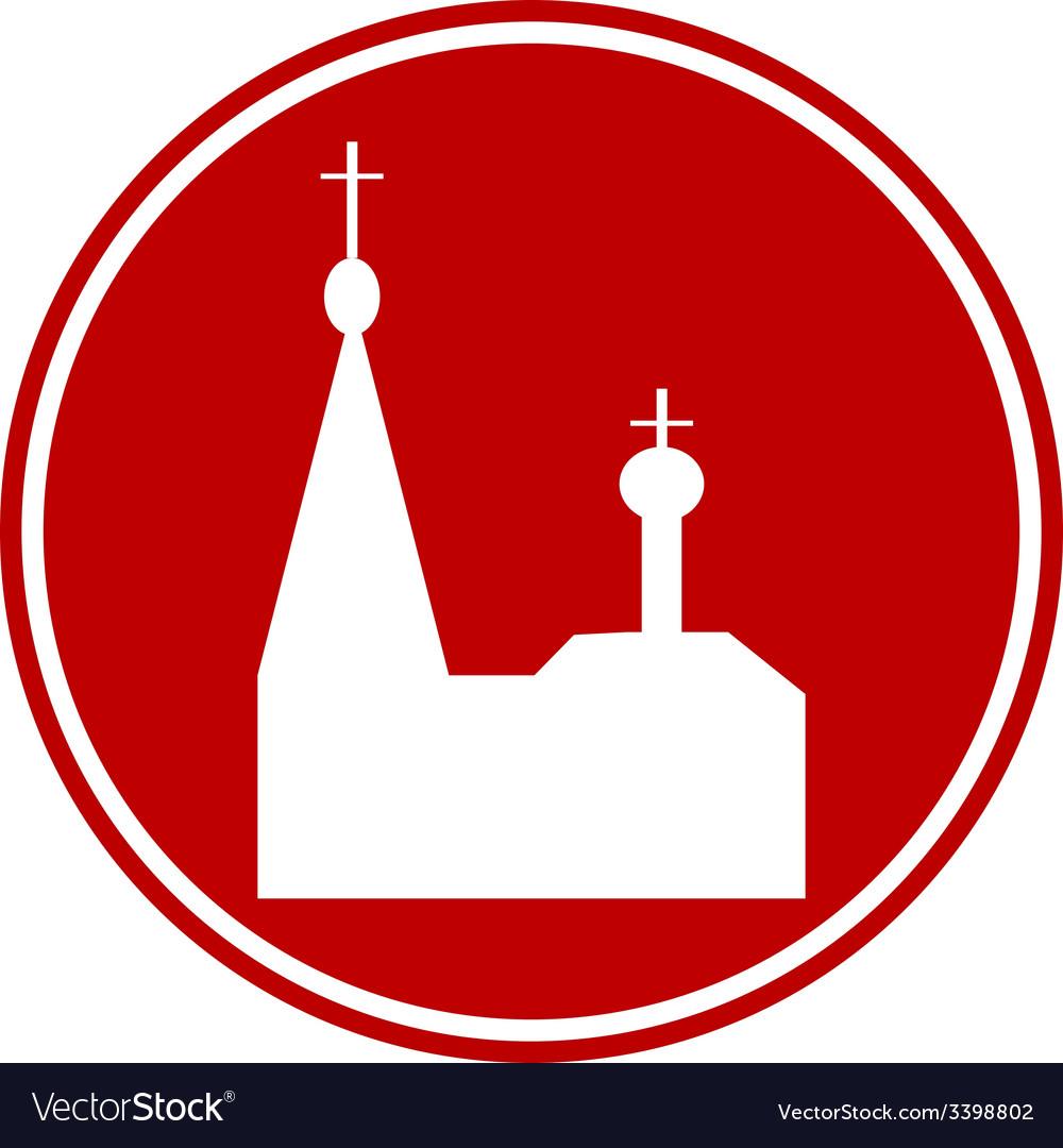 Orthodox church button vector | Price: 1 Credit (USD $1)