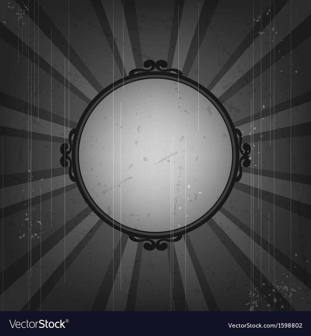 Retro frame on old grunge background vector | Price: 1 Credit (USD $1)