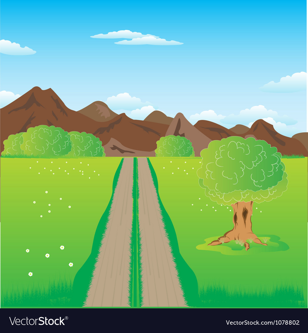 Road in mountains vector | Price: 1 Credit (USD $1)