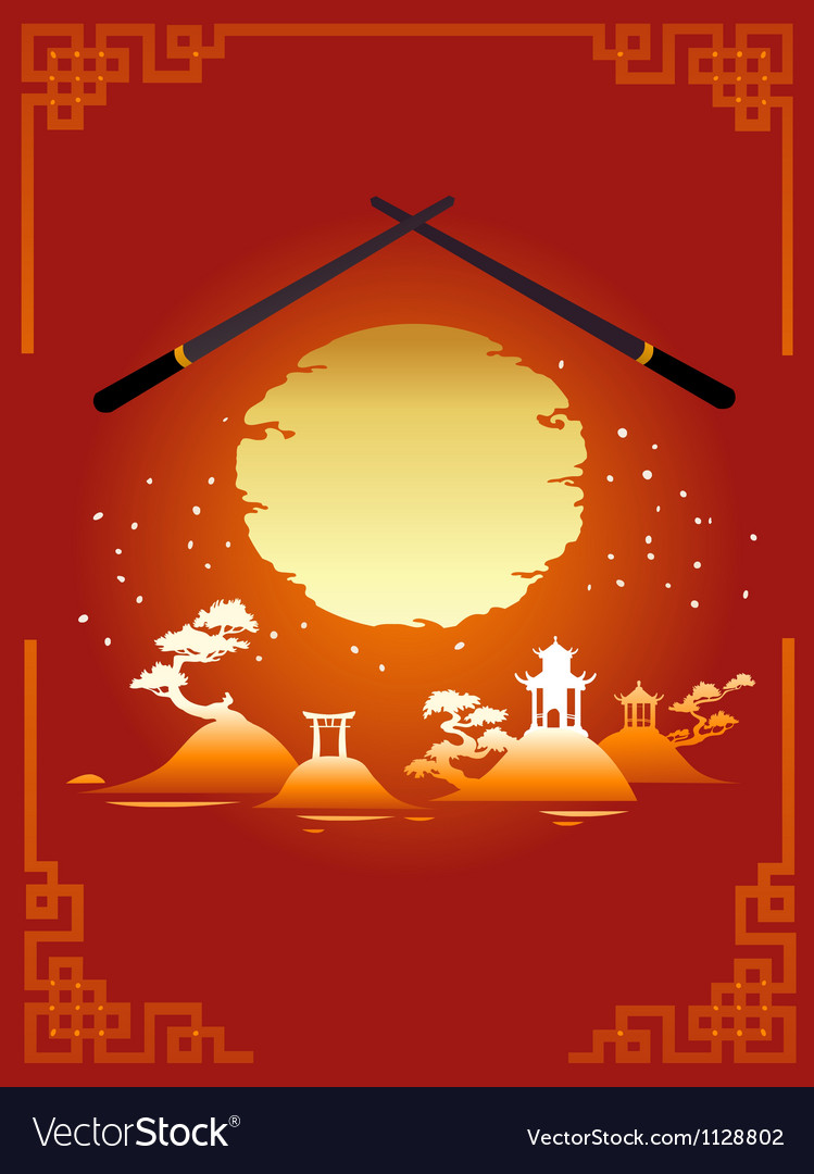 Template design of asian menu vector | Price: 1 Credit (USD $1)