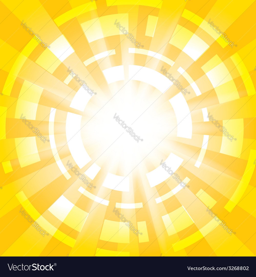 Yellow abstract background with radial abstraction vector | Price: 1 Credit (USD $1)