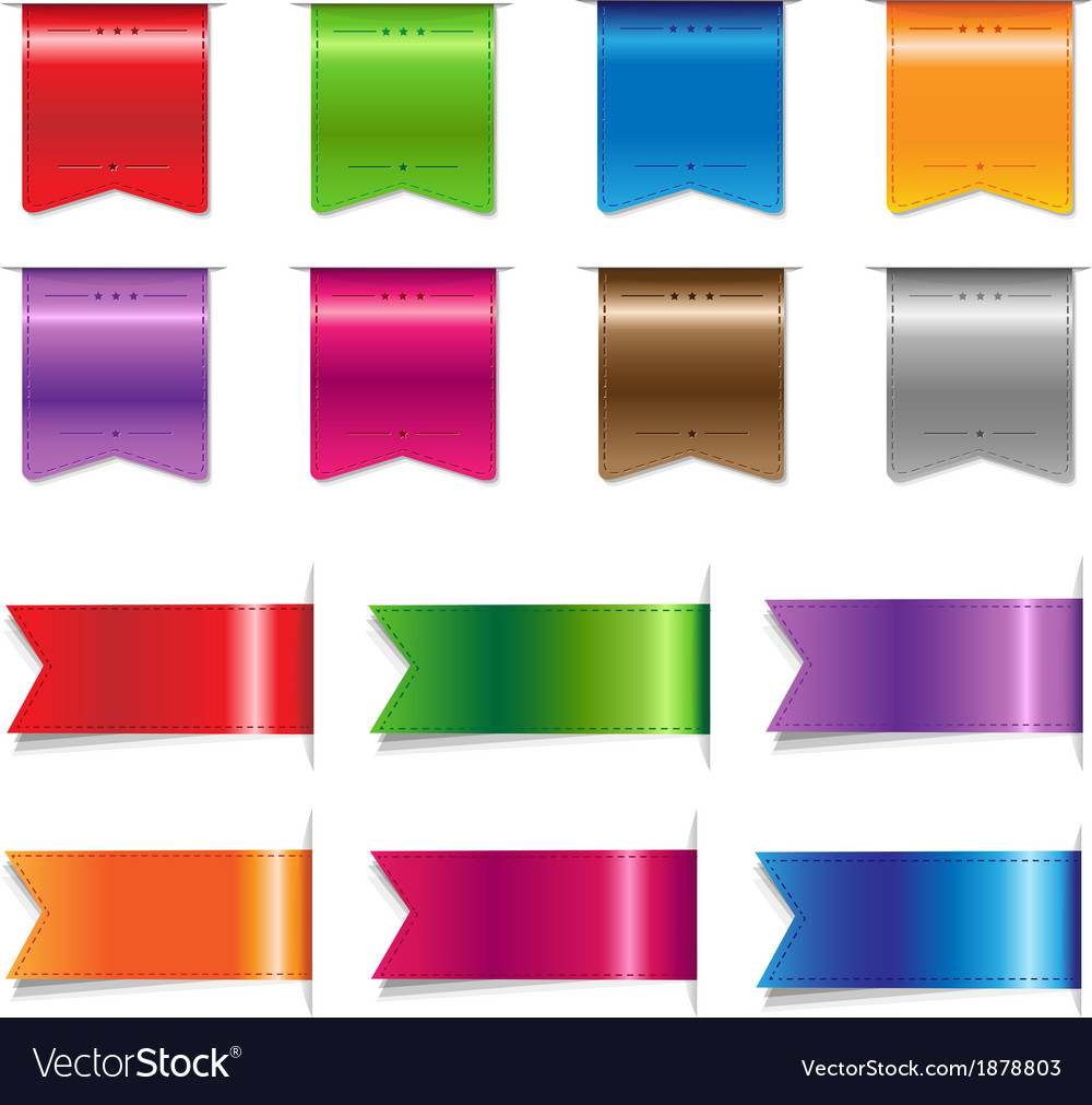 Big sale color ribbons set vector | Price: 1 Credit (USD $1)