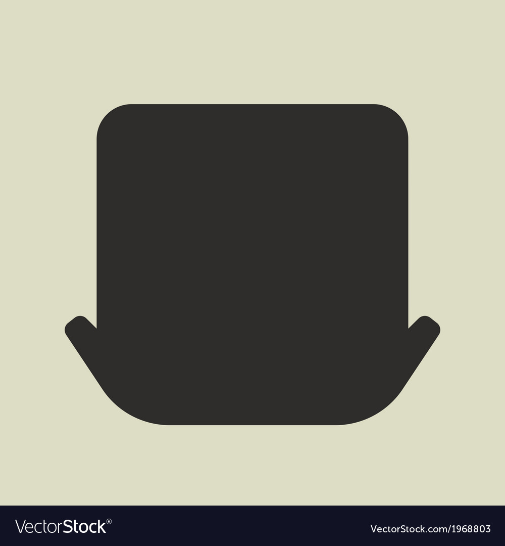 Black silhouette of leprechaun hat on white vector | Price: 1 Credit (USD $1)