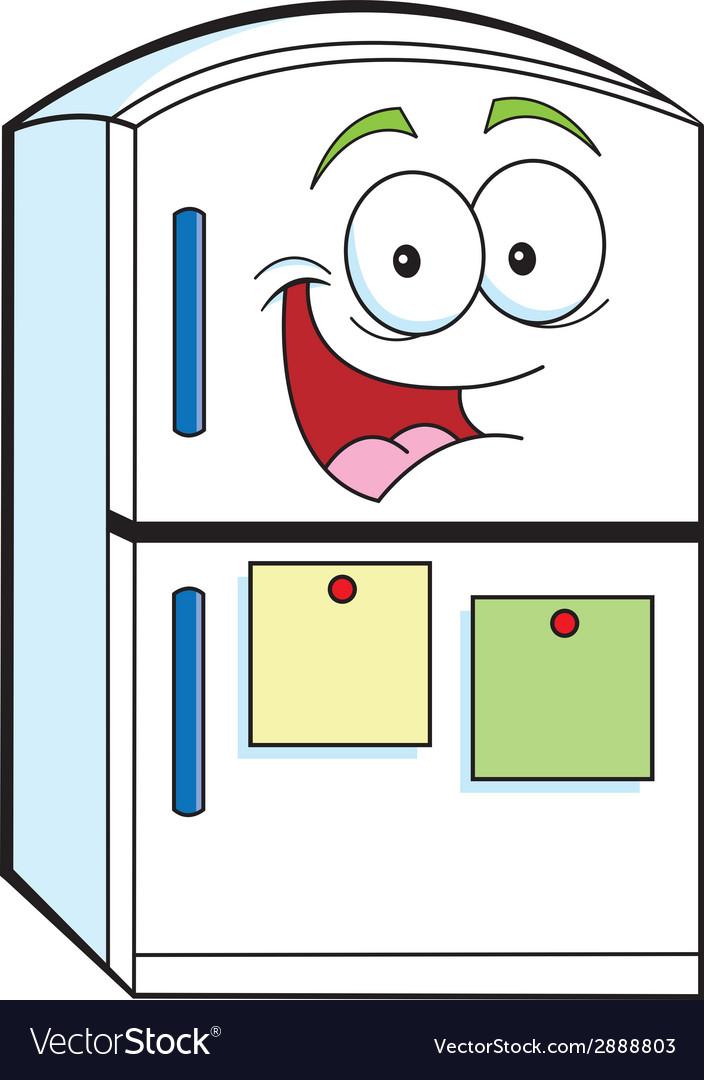 Cartoon refrigerator vector | Price: 1 Credit (USD $1)
