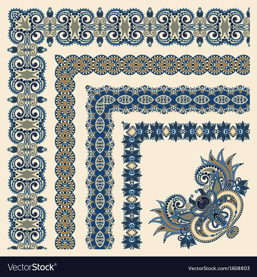 Collection of ornamental floral vintage frame desi vector | Price: 1 Credit (USD $1)