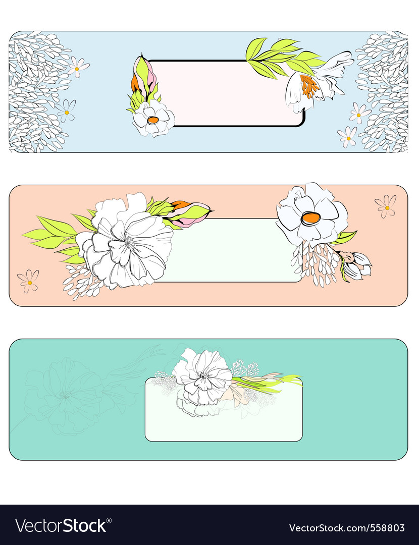 Decorative template for banners design vector | Price: 1 Credit (USD $1)
