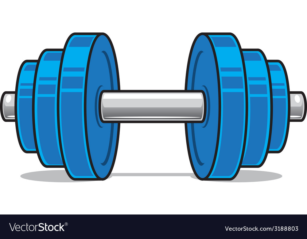 Fitness workout dumbbell isolated on white vector | Price: 1 Credit (USD $1)