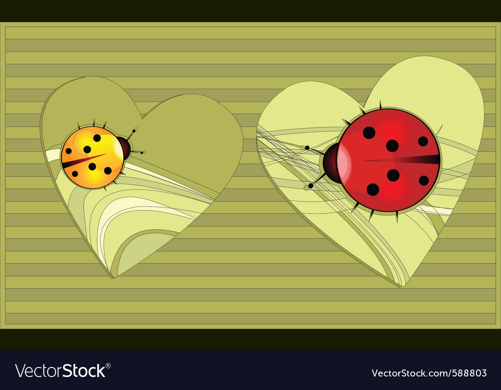 Heart bugs vector | Price: 1 Credit (USD $1)