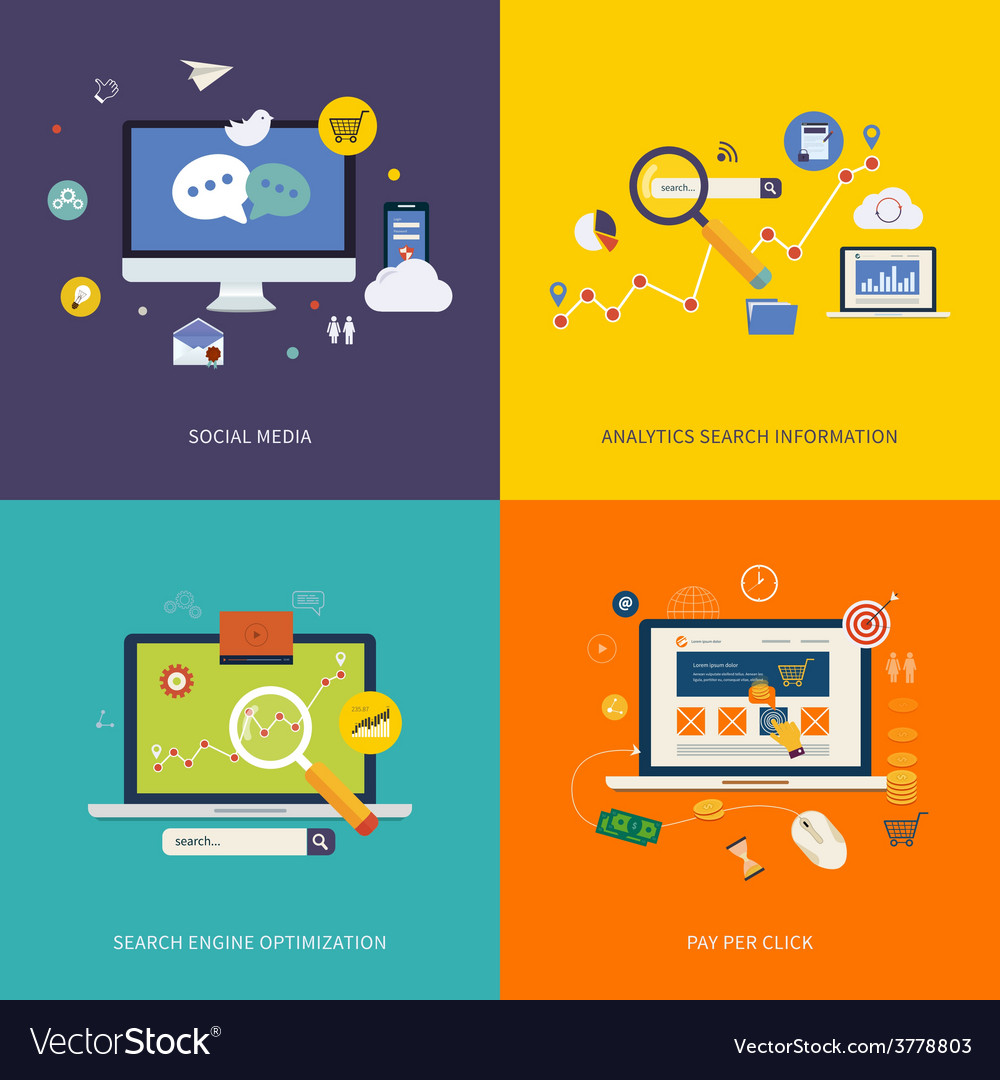Internet advertising icons vector | Price: 1 Credit (USD $1)