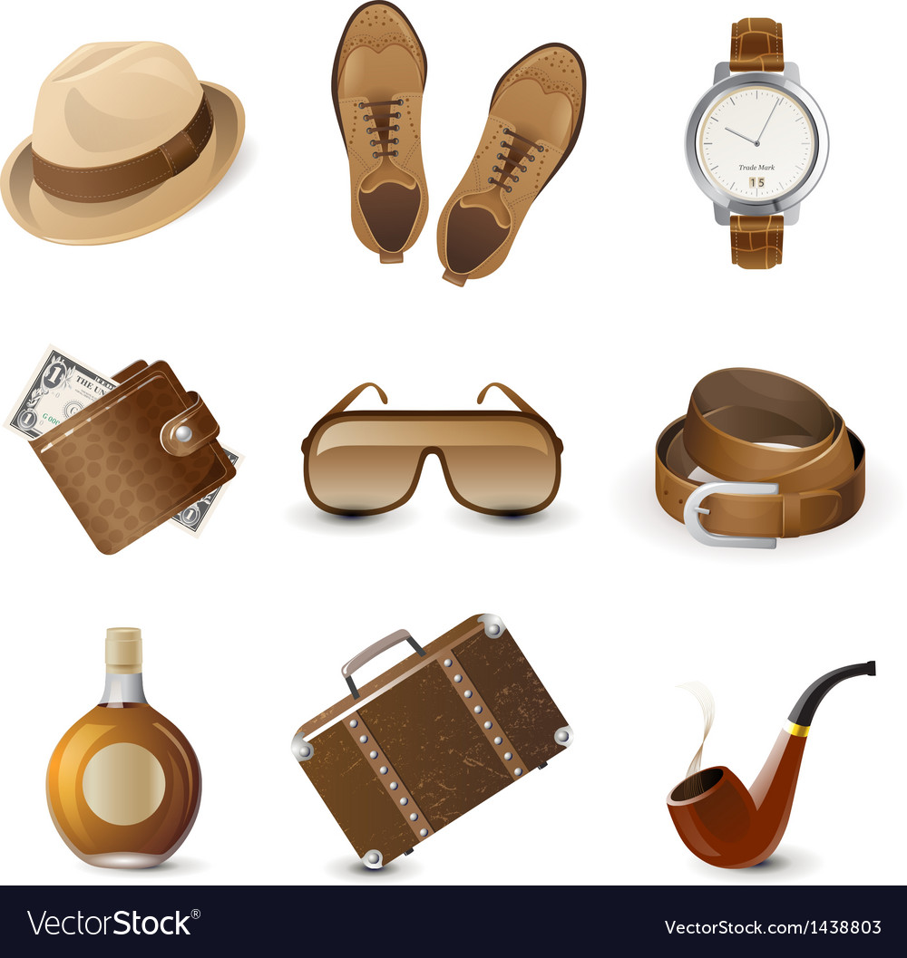 Men accessories vector | Price: 1 Credit (USD $1)
