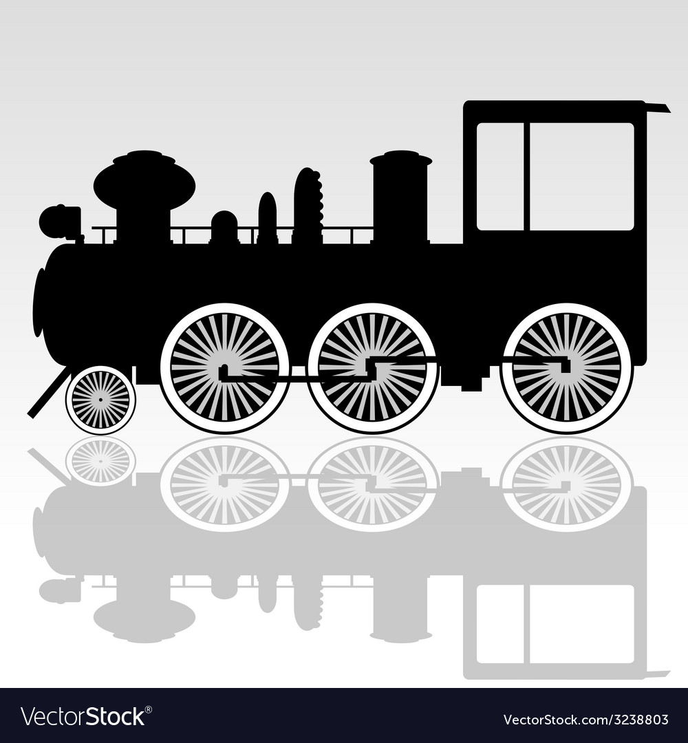 Old locomotive vector | Price: 1 Credit (USD $1)