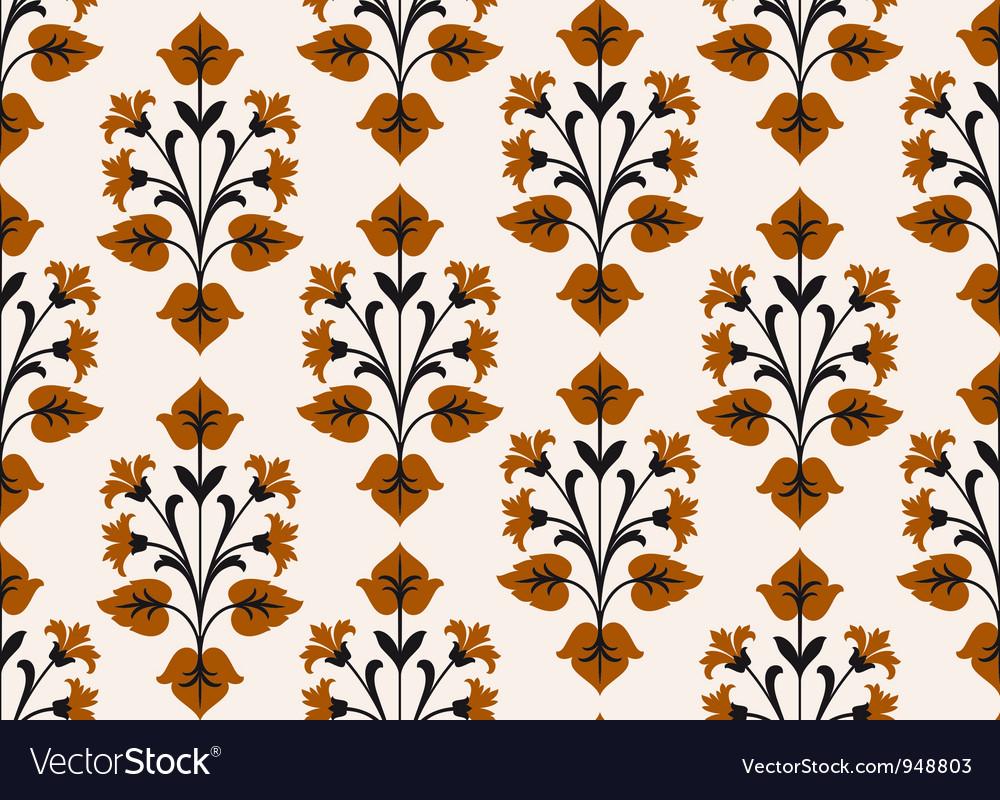 Retro floral wallpaper vector | Price: 1 Credit (USD $1)