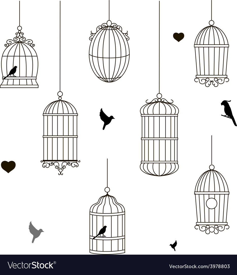 Set of different style bird cage vector   Price: 1 Credit (USD $1)