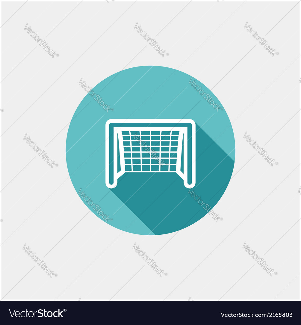 Soccer goal flat icon vector | Price: 1 Credit (USD $1)