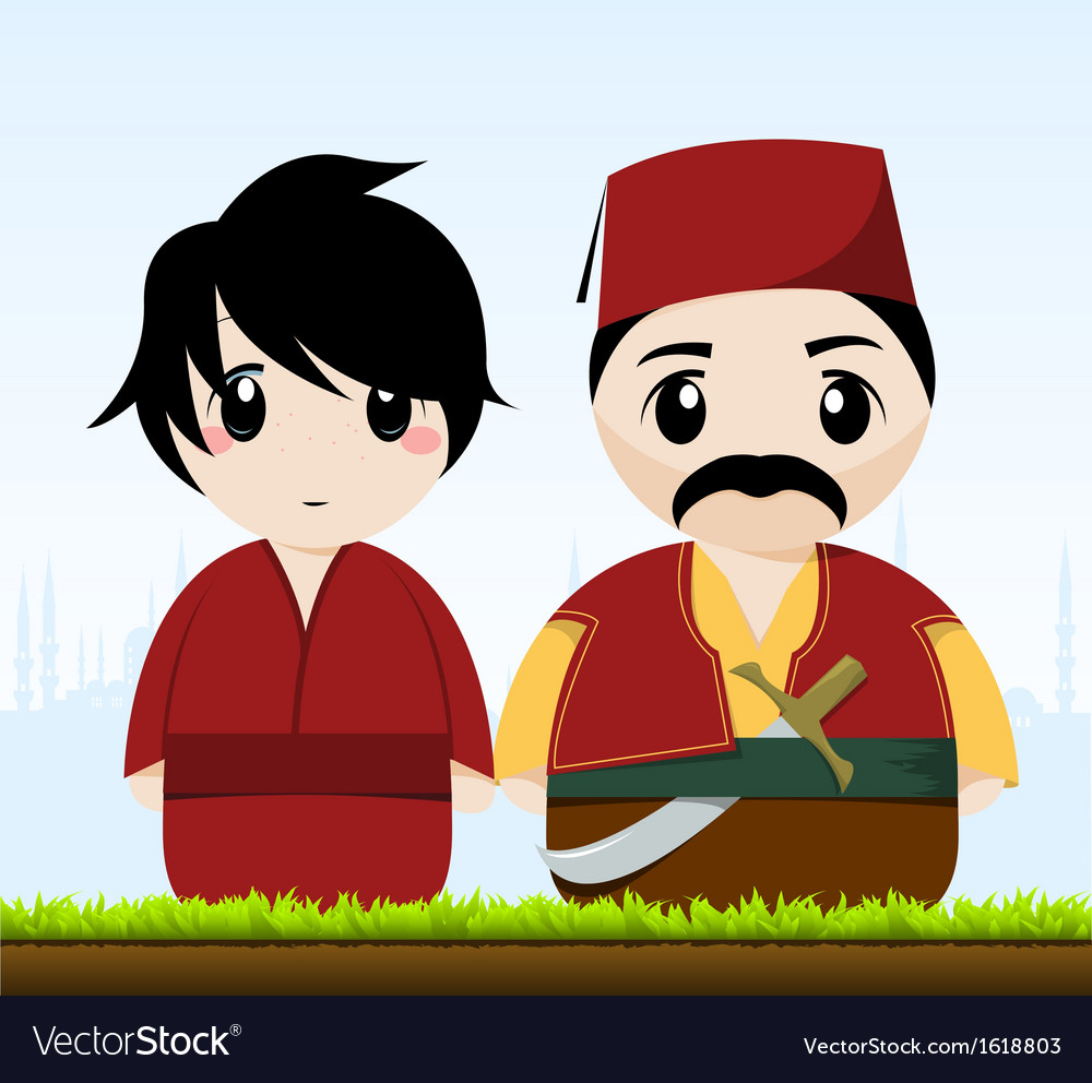 Traditional couple vector | Price: 1 Credit (USD $1)