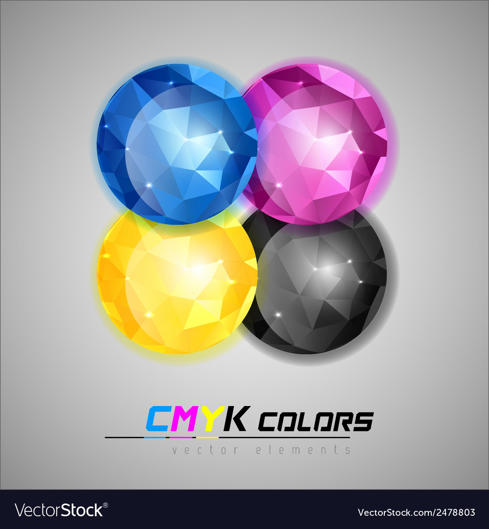 Triangles ball cmyk vector | Price: 1 Credit (USD $1)