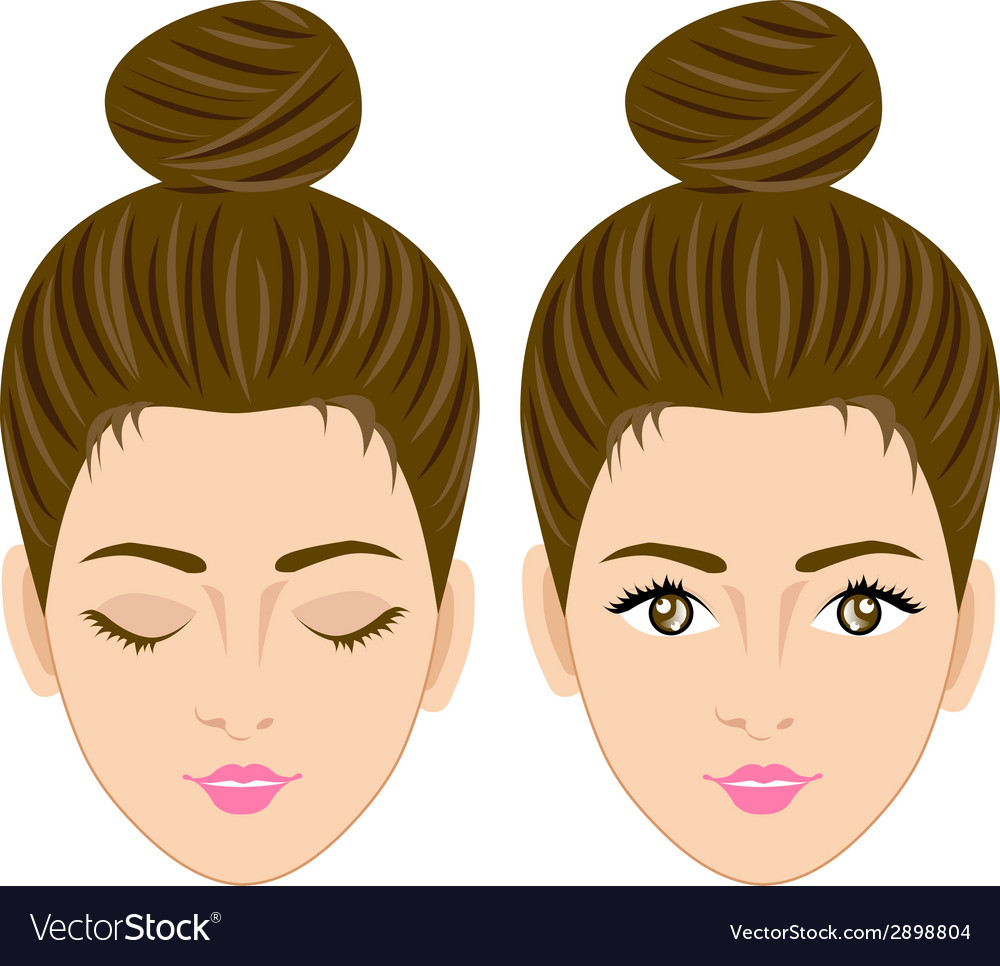 Beautiful women face vector | Price: 1 Credit (USD $1)