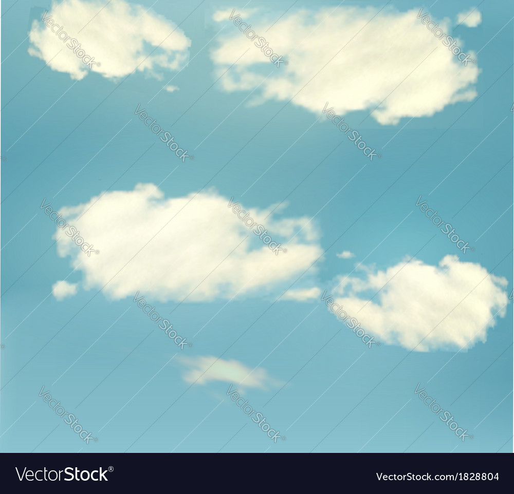 Blue sky with clouds background vector | Price: 1 Credit (USD $1)