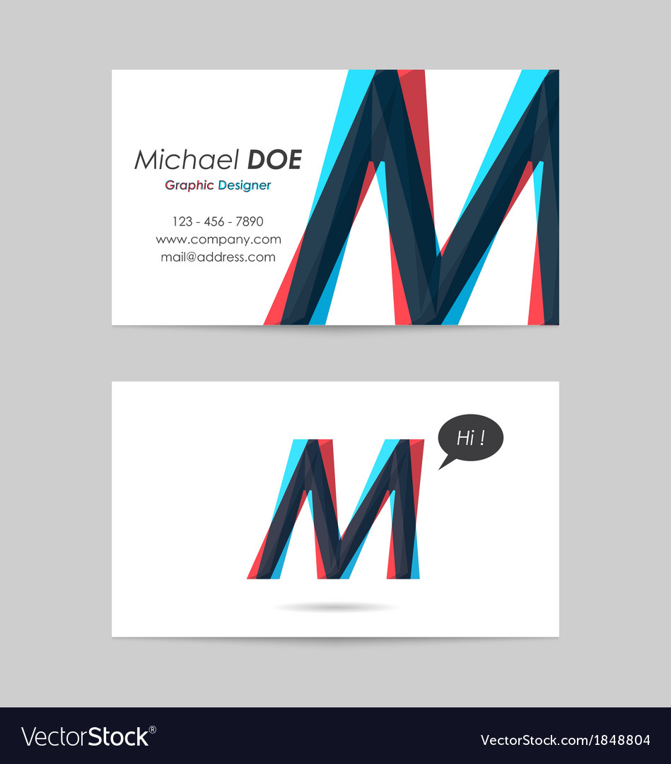 Business card template - letter m vector | Price: 1 Credit (USD $1)