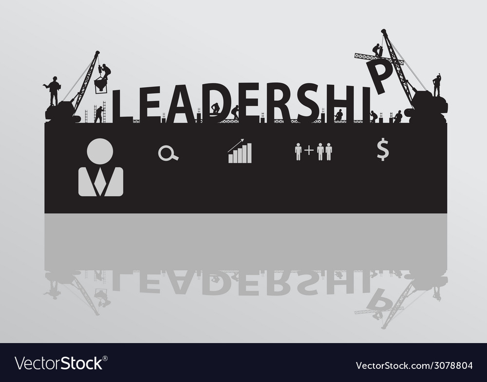Construction site crane building leadership text vector | Price: 1 Credit (USD $1)