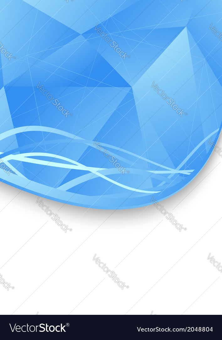 Folder template blue geometrical structure vector   Price: 1 Credit (USD $1)
