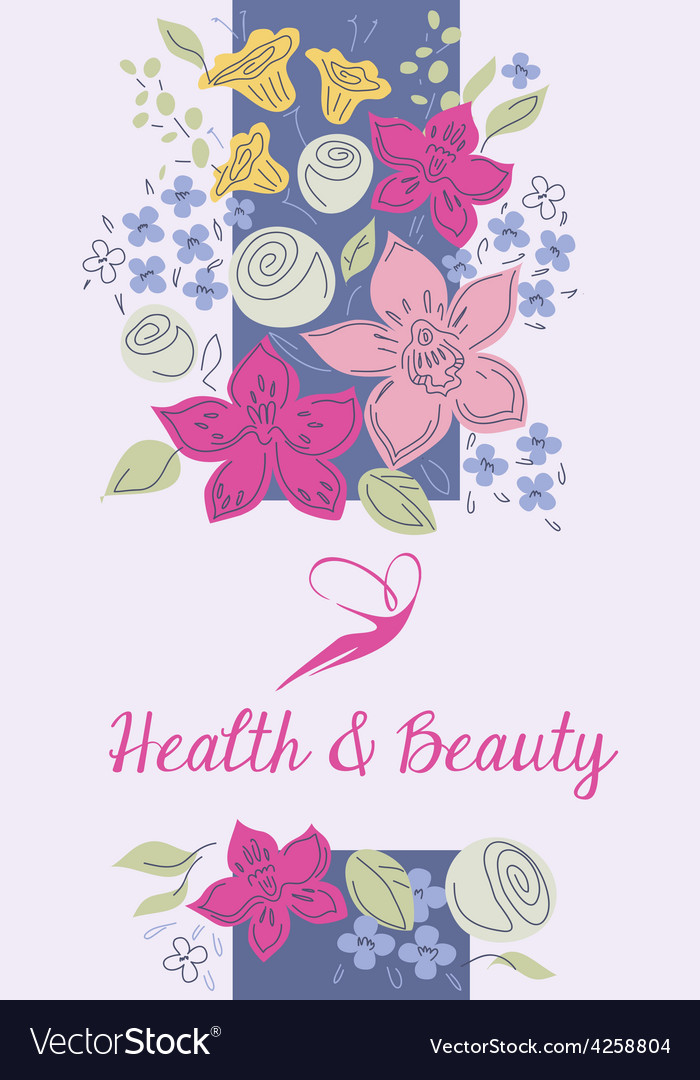 Health and beauty logo background vector | Price: 1 Credit (USD $1)