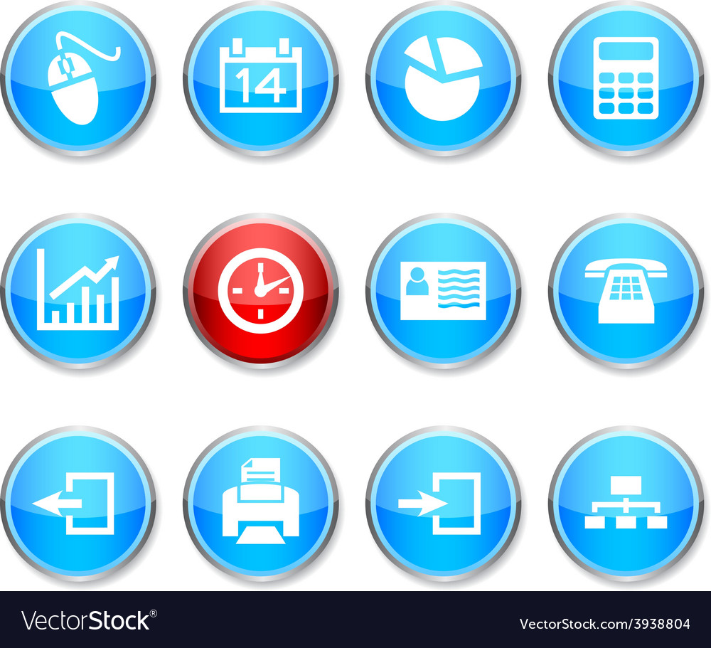Office round icons vector   Price: 1 Credit (USD $1)
