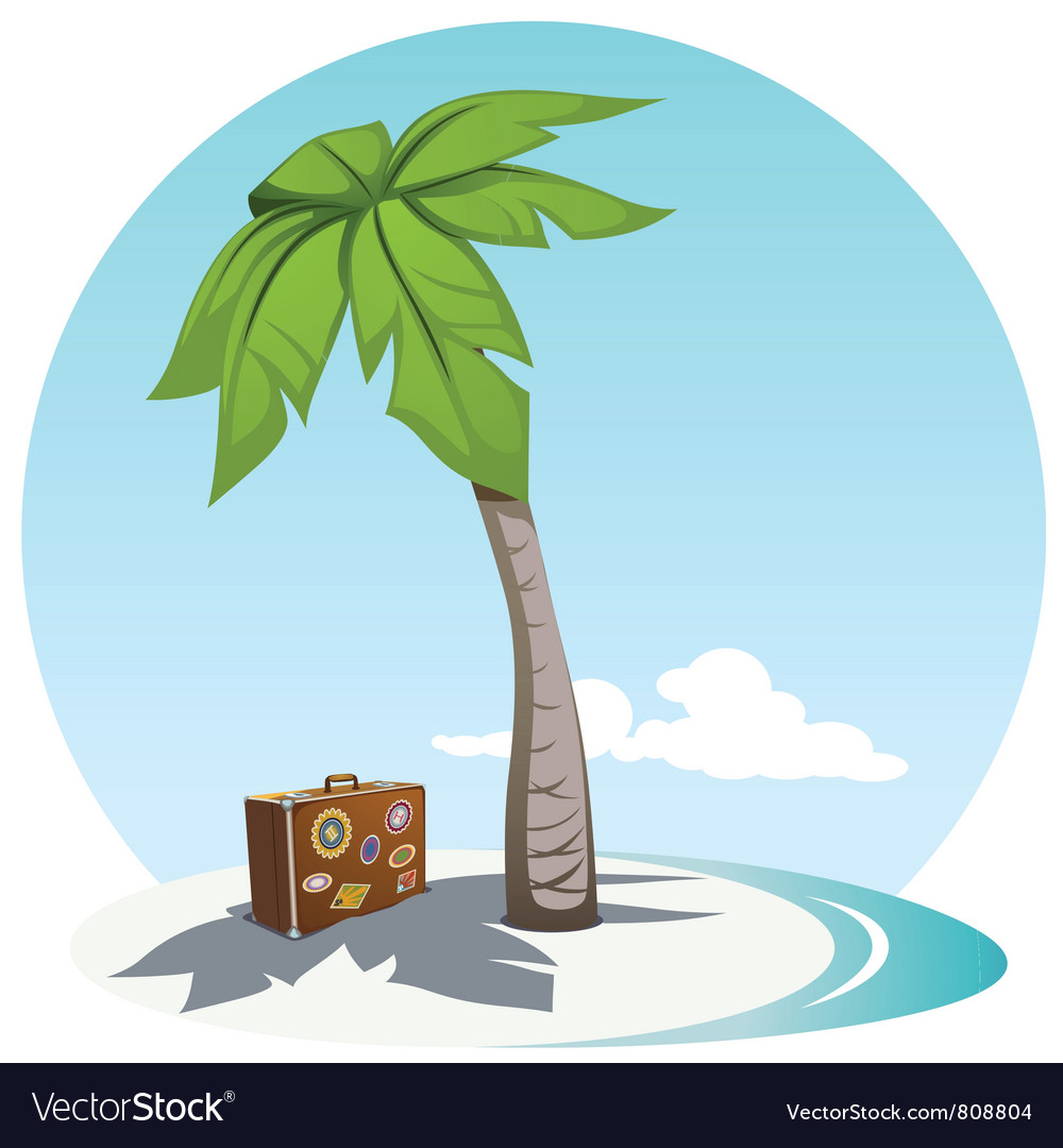Palm and suitcase vector | Price: 3 Credit (USD $3)