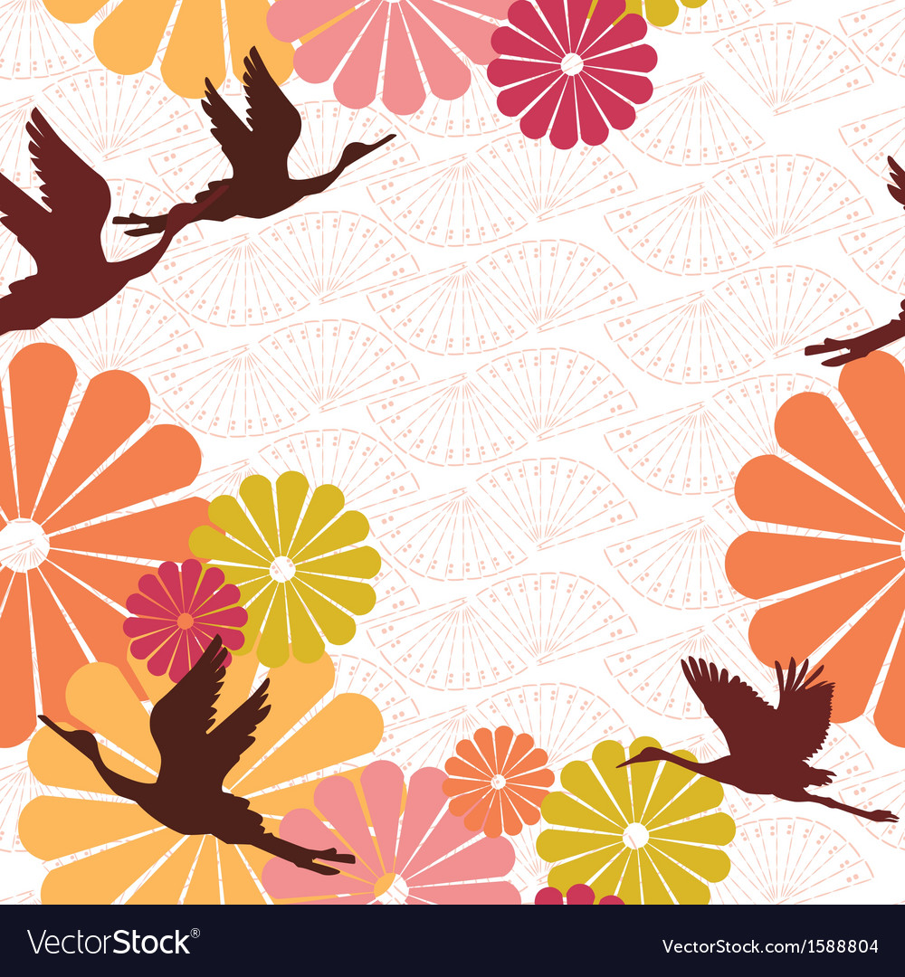 Seamless background of japanese subjects vector | Price: 1 Credit (USD $1)