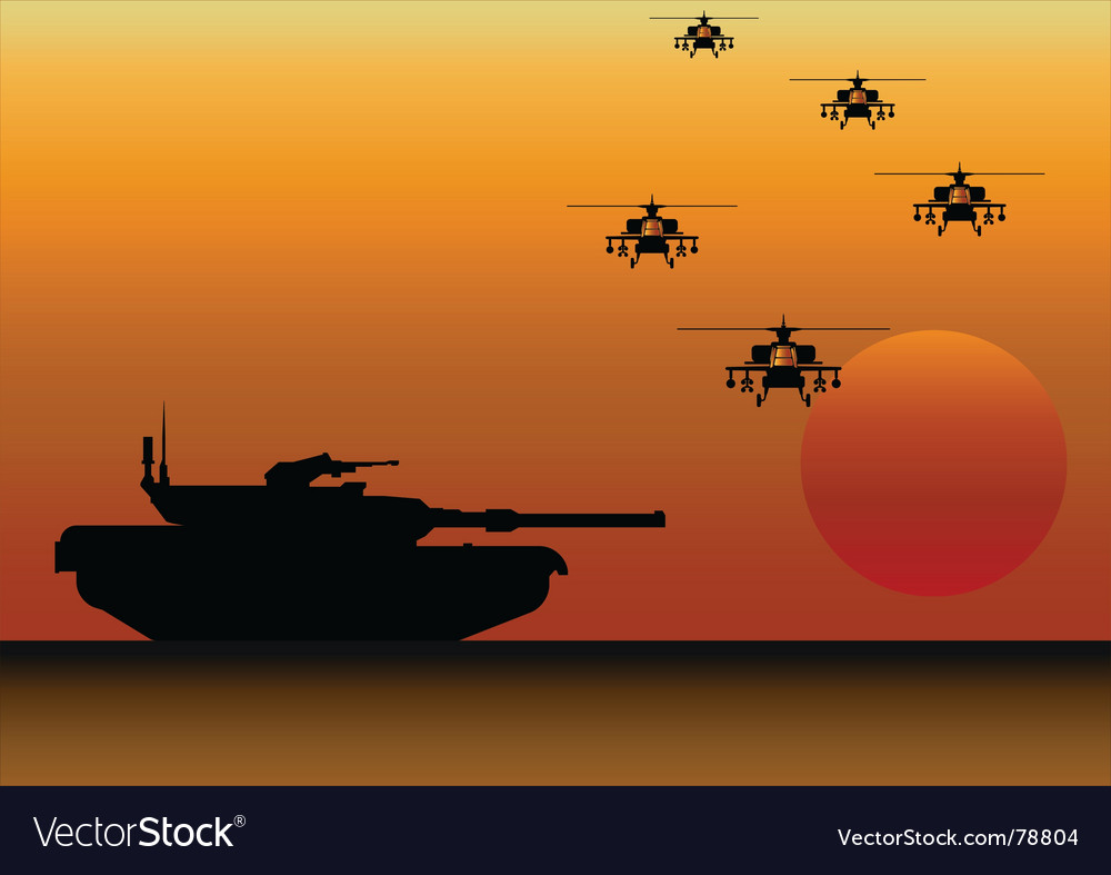 Tank helicopters vector | Price: 1 Credit (USD $1)