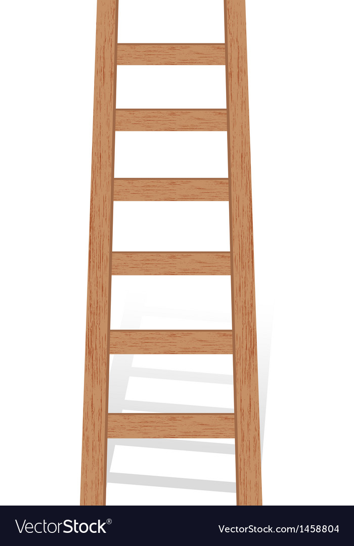 Wooden ladder vector | Price: 1 Credit (USD $1)