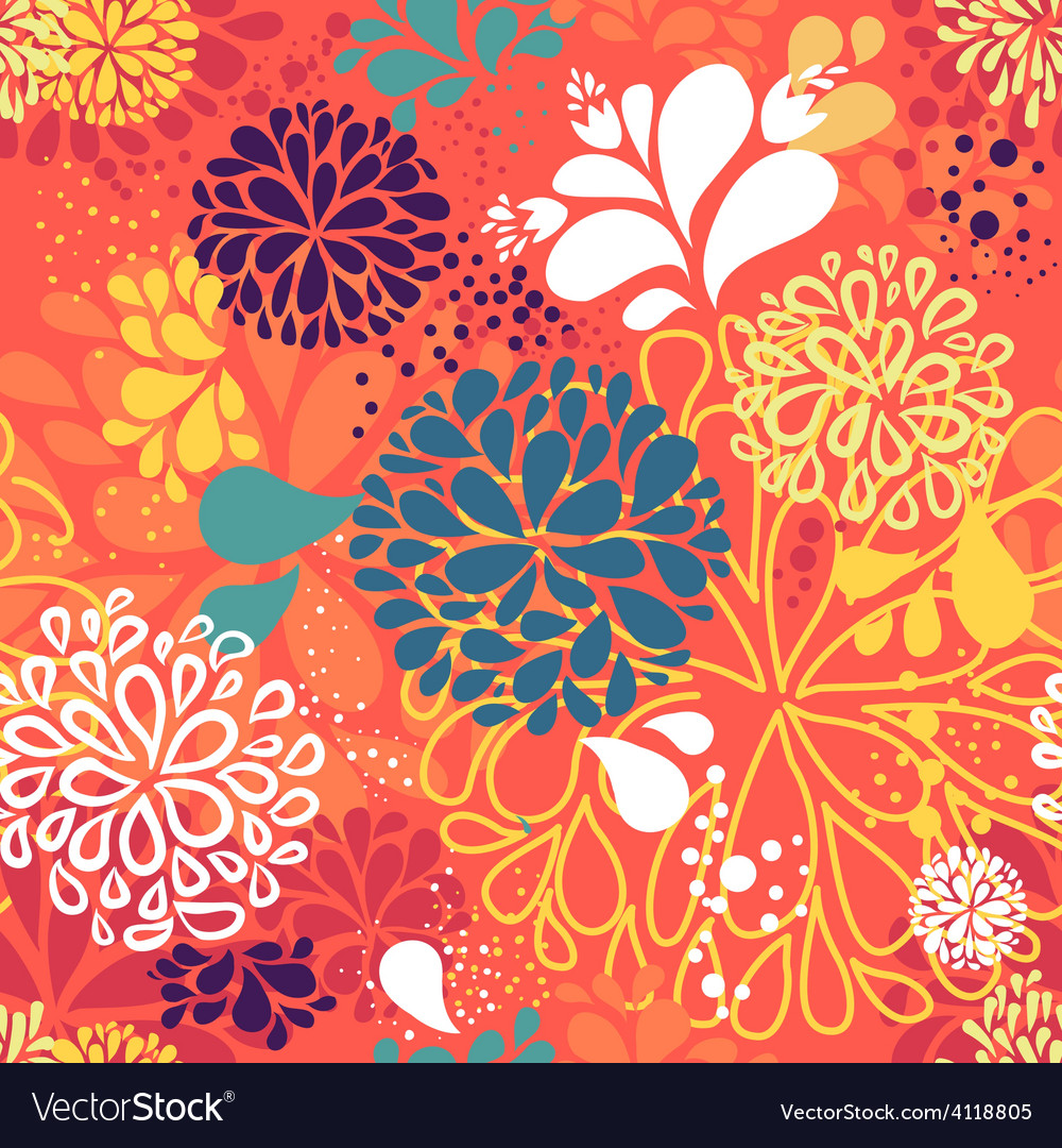 Abstract colorful doodlesflowers vector | Price: 1 Credit (USD $1)