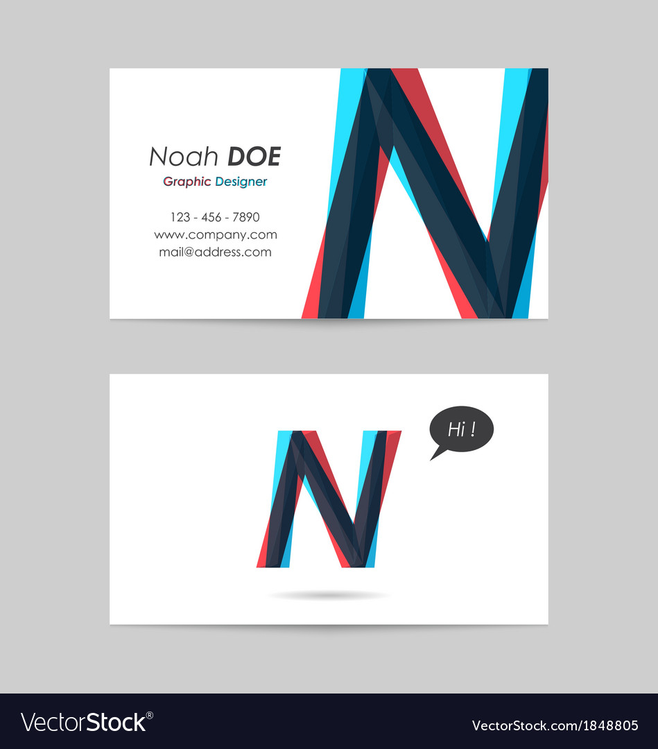 Business card template - letter n vector | Price: 1 Credit (USD $1)