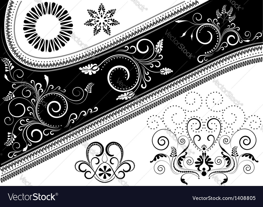 Canvas with pattern and details for design vector | Price: 1 Credit (USD $1)