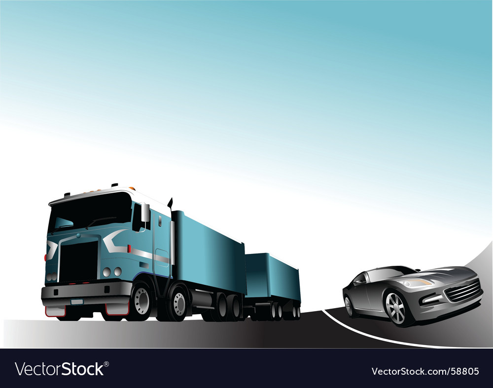 Car and lorry vector | Price: 1 Credit (USD $1)
