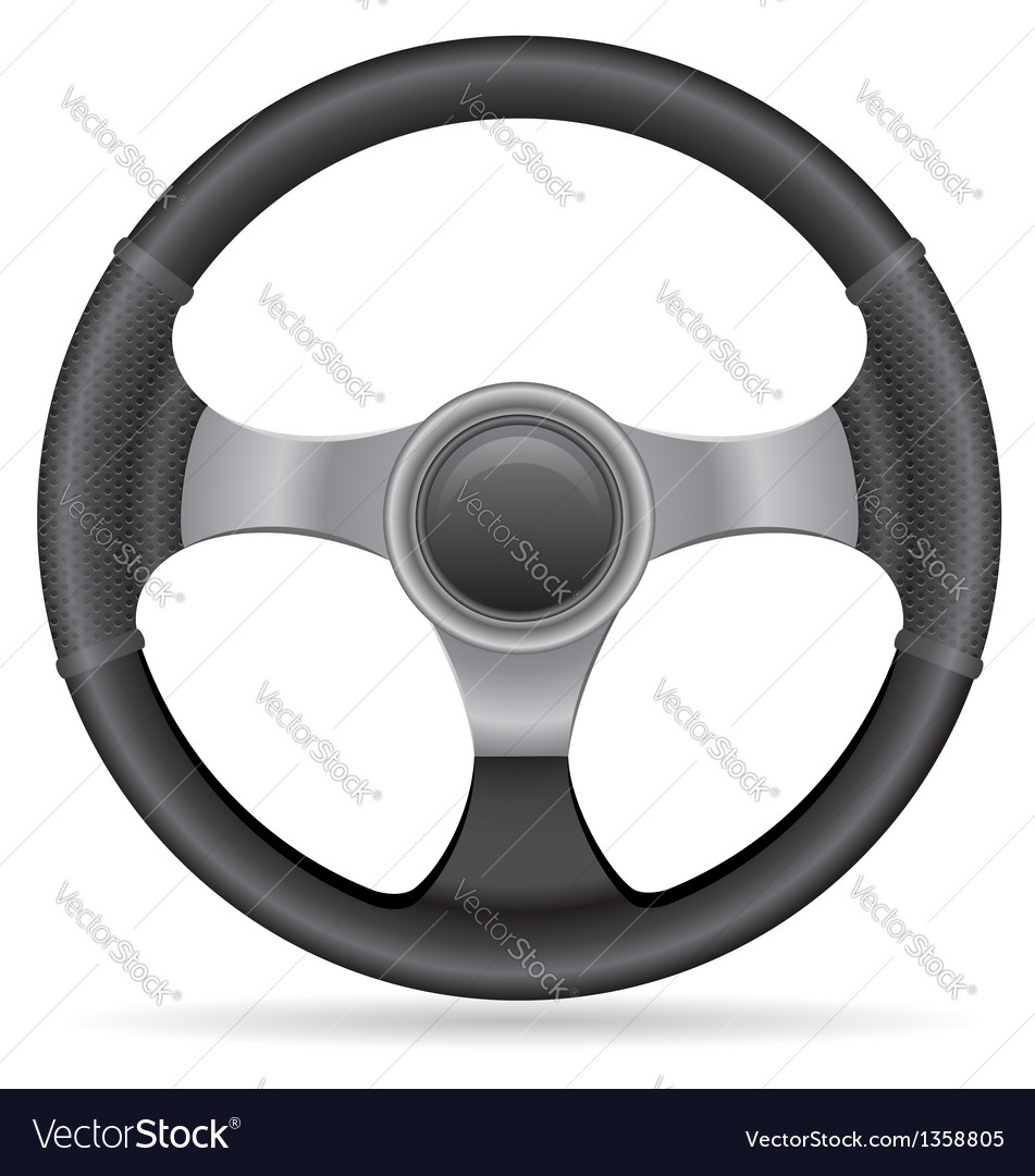 Car steering wheel vector | Price: 1 Credit (USD $1)