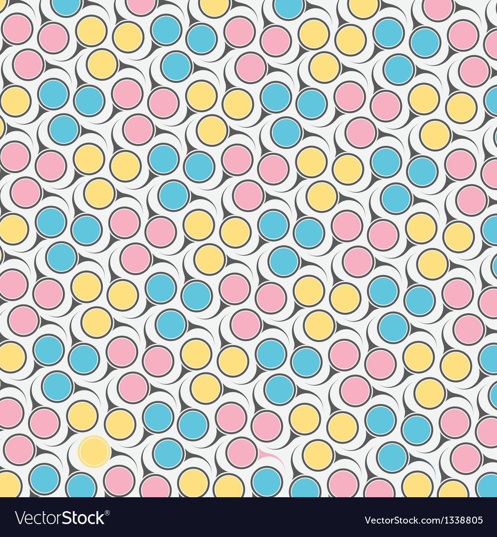 Circular retro pattern vector | Price: 1 Credit (USD $1)