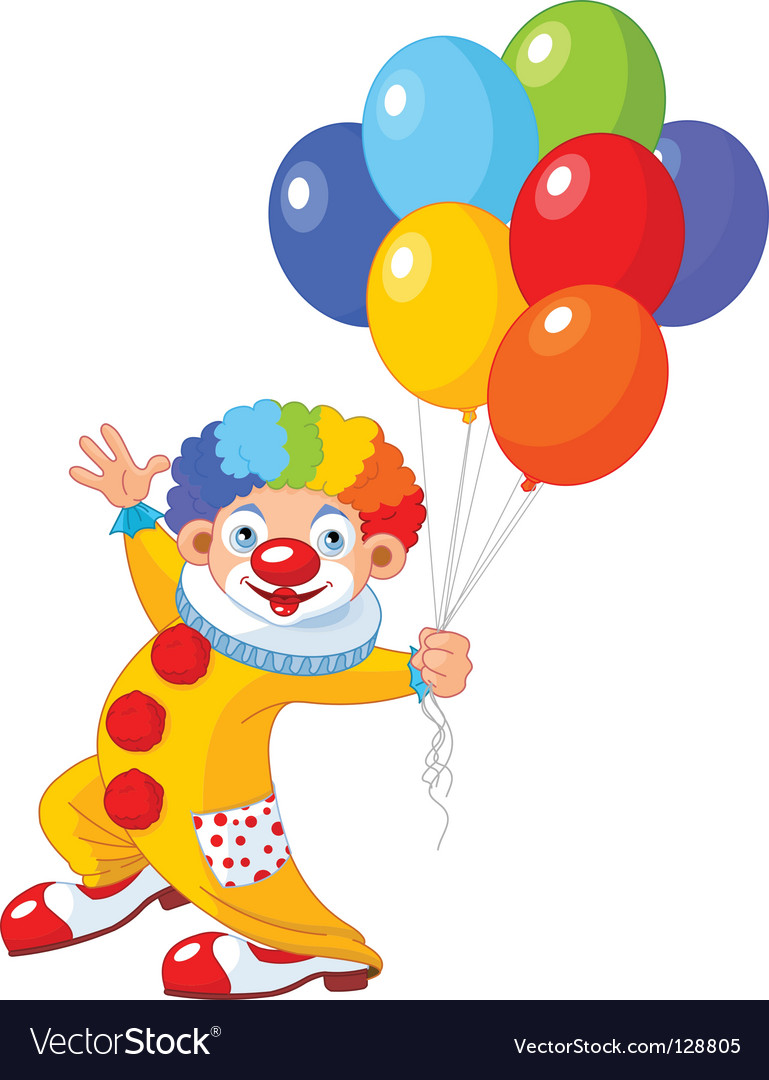 Funny clown vector | Price: 1 Credit (USD $1)