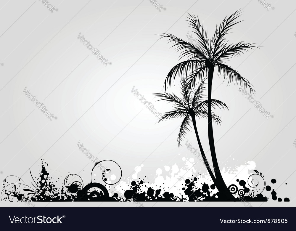 Grunge palm 2 vector | Price: 1 Credit (USD $1)