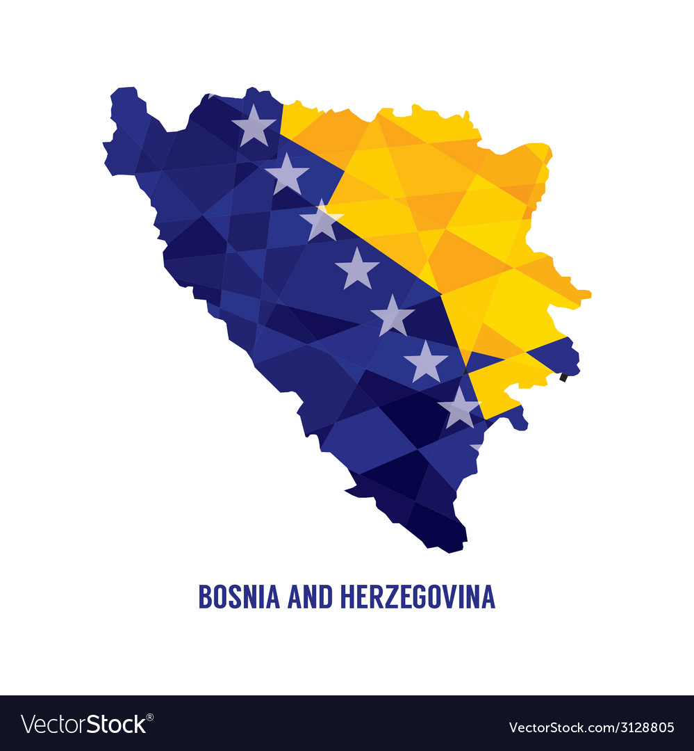 Map of bosnia herzegovina vector | Price: 1 Credit (USD $1)