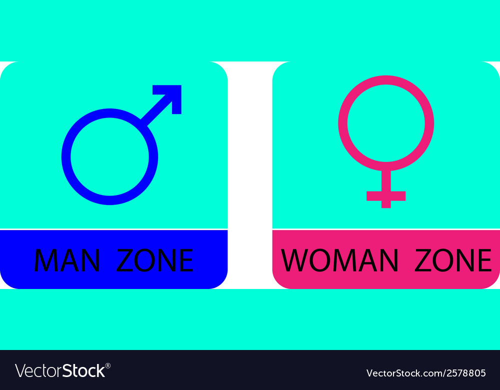 Men and women sign icons - vector | Price: 1 Credit (USD $1)