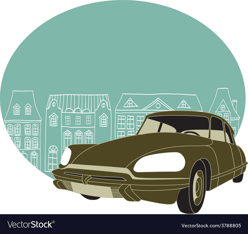 Old classic car vector | Price: 1 Credit (USD $1)
